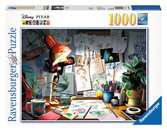 Disney Pixar The Artist s Desk, 1000pc Puzzles;Adult Puzzles - Ravensburger
