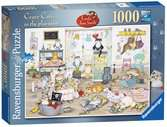 Crazy Cats - In the Playroom, 1000pc Puzzles;Adult Puzzles - Ravensburger