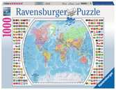 Political World Map Puslespil;Puslespil for voksne - Ravensburger