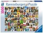 99 Funny Animals, 1000pc Puslespil;Puslespil for voksne - Ravensburger