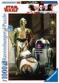 Disney Star Wars: C-3PO, R2-D2 & BB-8 1000 dílků 2D Puzzle;Puzzle pro dospělé - Ravensburger