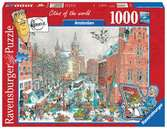 Fleroux - Amsterdam en hiver, cities of the world Puzzle;Puzzles adultes - Ravensburger