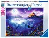 Whales in the Moonlight, 1000pc Puzzles;Adult Puzzles - Ravensburger