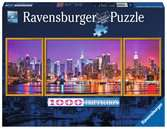 New York Triptochon Panoramic, 1000pc Puslespil;Puslespil for voksne - Ravensburger