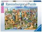 ŚWIATOWE ZABYTKI 1000 EL Puzzle;Puzzle dla dorosłych - Ravensburger