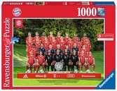 FC BAYERN 2017/2018 1000 EL Puzzle;Puzzle dla dorosłych - Ravensburger