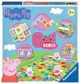 Ravensburger Peppa Pig, 6 in 1 Games Games;Children s Games - Ravensburger
