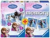Disney Frozen 3 Puzzles + memory® Juegos;Juegos educativos - Ravensburger