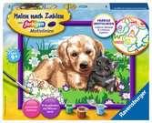 Hund und Katze Malen und Basteln;Malen nach Zahlen - Ravensburger