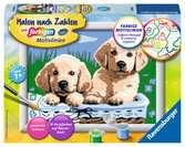 Süße Hundewelpen Malen und Basteln;Malen nach Zahlen - Ravensburger