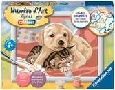 Numéro d art - petit - Comme chien et chat Loisirs créatifs;Peinture - Numéro d'Art - Ravensburger