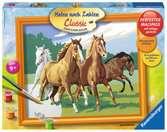 Wilde paarden / Chevaux sauvages Loisirs créatifs;Peinture - Numéro d art - Ravensburger
