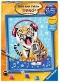 Zingende tijger Hobby;Schilderen op nummer - Ravensburger