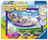 Kittens in de hangmat Hobby;Schilderen op nummer - Ravensburger