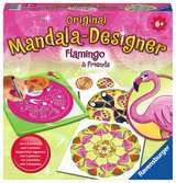 Mandala Midi Flamingo & Friends Artístico;Junior Mandala-Designer® - Ravensburger