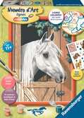 Cheval blanc dans son box Loisirs créatifs;Peinture - Numéro d'Art - Ravensburger