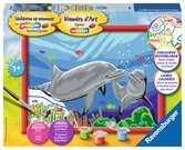 Dolfijnen Hobby;Schilderen op nummer - Ravensburger