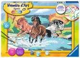 Numéro d art - grand - Horde de chevaux Loisirs créatifs;Peinture - Numéro d'Art - Ravensburger