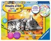 Numéro d art - petit - Deux chatons couchés Loisirs créatifs;Peinture - Numéro d'Art - Ravensburger