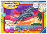 Numéro d art - grand - Le monde des dauphins Loisirs créatifs;Peinture - Numéro d'Art - Ravensburger