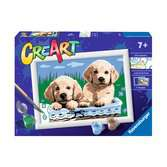 Ravensburger CreArt Paint by Numbers - Cute Puppies Arts & Crafts;CreArt - Ravensburger