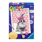 Ravensburger CreArt Paint by Numbers - Cuddly Bunny Arts & Crafts;CreArt - Ravensburger