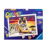 Ravensburger CreArt Paint by Numbers - Majestic Tiger Arts & Crafts;CreArt - Ravensburger