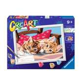Ravensburger CreArt Paint by Numbers - Two Cuddly Cats Arts & Crafts;CreArt - Ravensburger