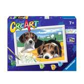 Ravensburger CreArt Paint by Numbers - Jack Russell Puppy Arts & Crafts;CreArt - Ravensburger