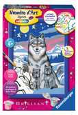 Numéro d art - petit - Famille de loups Loisirs créatifs;Peinture - Numéro d'Art - Ravensburger