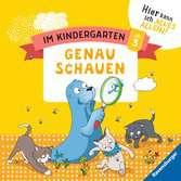 Im Kindergarten: Genau schauen Lernen und Fördern;Lernbücher - Ravensburger