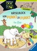 Rätselblock von Punkt zu Punkt: Im Zoo Kinderbücher;Lernbücher und Rätselbücher - Ravensburger