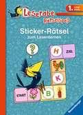 Sticker-Rätsel zum Lesenlernen (1. Lesestufe), blau Kinderbücher;Lernbücher und Rätselbücher - Ravensburger