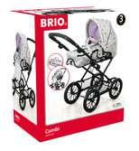 BRIO Puppenwagen Combi, grau mit Punkten BRIO;Rollenspielzeug - Ravensburger