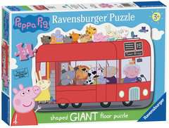 London Bus Shaped Giant Floor Puzzle, 24pc - image 1 - Click to Zoom