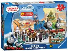 Thomas & Friends Shaped Chistmas Puzzle, 32pc with Door Hanger - image 1 - Click to Zoom