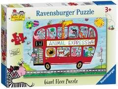 Rachel Ellen Animals Express, Giant Floor Puzzle, 24pc - image 1 - Click to Zoom