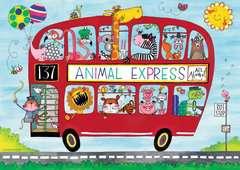 Rachel Ellen Animals Express, Giant Floor Puzzle, 24pc - image 2 - Click to Zoom