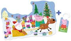 Peppa Pig Christmas Shaped Floor Puzzle, 32pc - image 3 - Click to Zoom