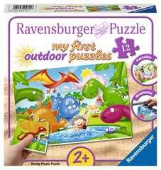 My first outdoor puzzle - Les copains dinos - Image 1 - Cliquer pour agrandir