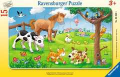 Puzzle cadre 15 p - Affectueux animaux - Image 1 - Cliquer pour agrandir