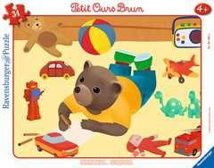 Puzzle cadre 30-48 p - Petit Ours Brun joue dans sa chambre - Image 1 - Cliquer pour agrandir