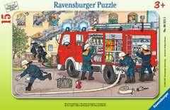 Puzzle cadre 15 p - Ma voiture de pompier - Image 1 - Cliquer pour agrandir