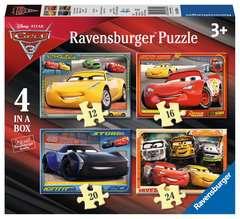 4 en 1 Puzzles évolutifs - Disney Cars 3 - Image 1 - Cliquer pour agrandir