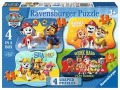 Paw Patrol Four Shaped Puzzles - image 1 - Click to Zoom