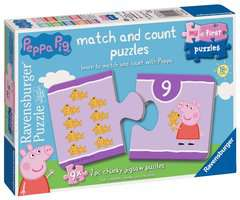 Peppa Pig My First Match and Count Puzzles, 9 x2pc - image 1 - Click to Zoom