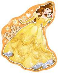 Princess 4 Shaped Puzzles (10,12,14,16pc) - image 5 - Click to Zoom