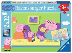 Puzzles 2x12 p - A la maison / Peppa pig - Image 1 - Cliquer pour agrandir