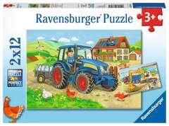 Puzzles 2x12 p - Chantier et ferme - Image 1 - Cliquer pour agrandir