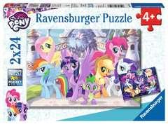 Puzzle 2x24 p - Poneys magiques / My Little Pony - Image 1 - Cliquer pour agrandir